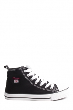 Addison Black ffomo logo lace up canvas