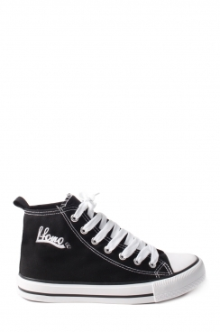 Alvin Black ffomo logo lace up canvas