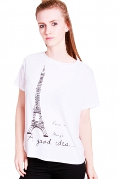 Adele Eiffel tower printed oversized t-shirt