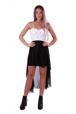 Alaina Strappy High Low Hem Dress