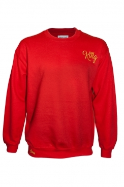 Albert King Embroidery Red Sweatshirt