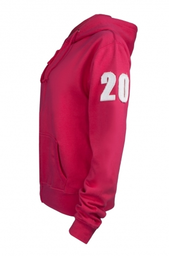 FFOMO Alex Applique Arm Patch Fuchsia Hoodie