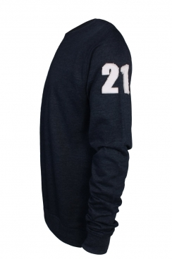 Alexander 21 Applique Arm Patch Navy Sweatshirt