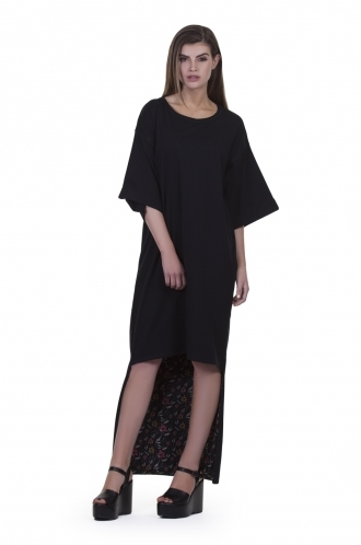FFOMO Amelia high-low dress with floral mesh