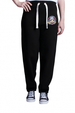 Amelia London  Embroidered Black Jogger
