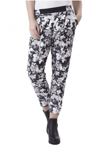 FFOMO Andrea Monotone Floral Peg Trousers