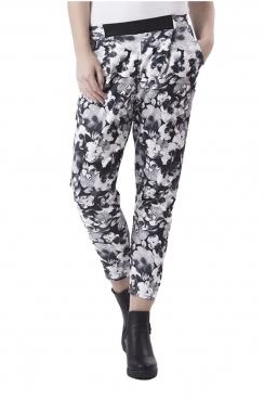 Andrea Monotone Floral Peg Trousers