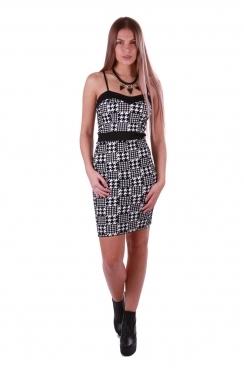 Aniya Houndstooth Strappy Bodycon Dress