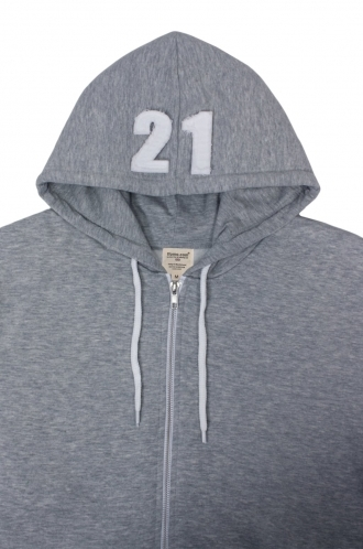 FFOMO Archie 21 Applique Hood Patch Metal Zipped Hoodies