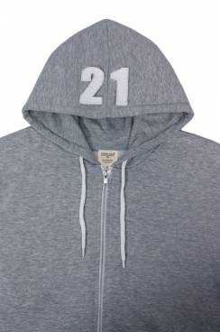 Archie 21 Applique Hood Patch Metal Zipped Hoodies