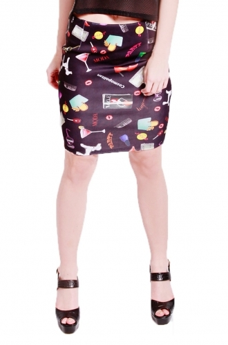 FFOMO Avril all over printed short skirt