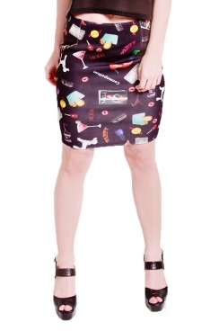 Avril all over printed short skirt