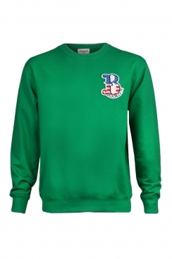 Bart Brooklyn Embroidered Patch Green Sweatshirt