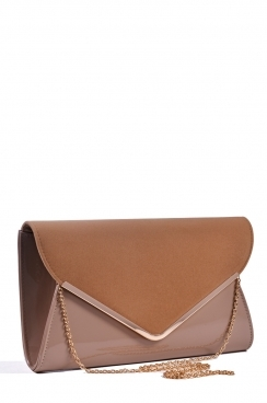 Beige Oversized Envelope Clutch Bag