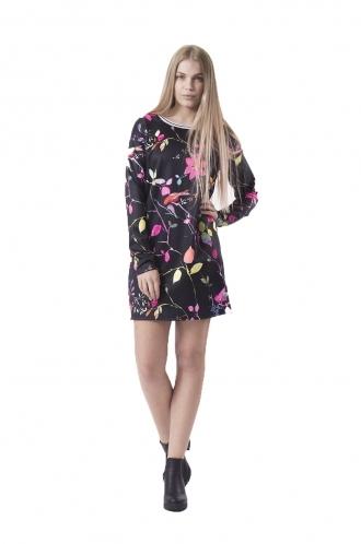 FFOMO Belle Fluorescent and Black Shift Dress