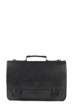 Black Briefcase Real Leather Handmade Bag