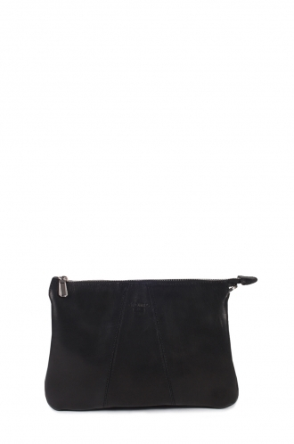FFOMO Black Crossbody Real Goat leather Bag