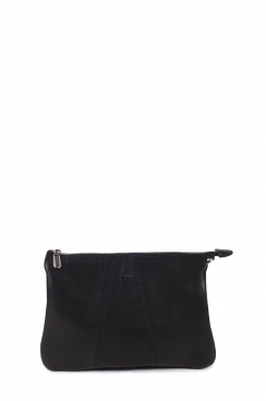 Black Crossbody Real Goat leather Bag
