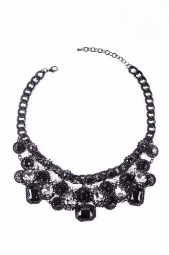 FFOMO Black Gem Statement Necklace