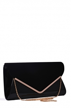 Black Oversized Envelope Clutch Bag