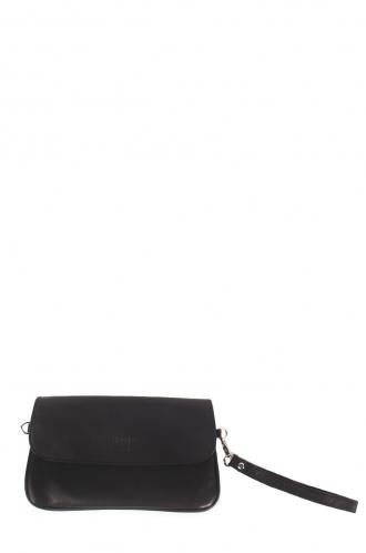 FFOMO Black Pochette Real Goat Leather Envelop Clutch Bag