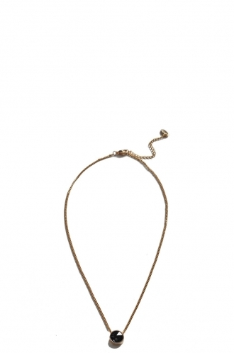 FFOMO Black Single Gem Necklace
