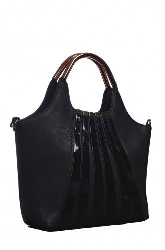 FFOMO Black Stripped Shopper Bag