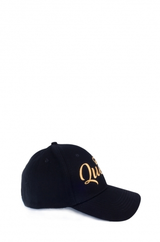 FFOMO Black Womens Queen Embroidered Cap