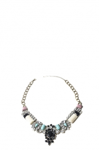 FFOMO Blue and Pink Bead Necklace