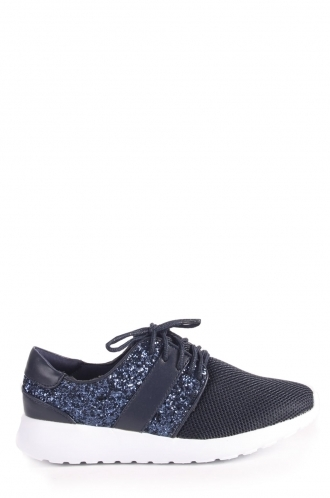 FFOMO Booklyn lace up glitter trainers