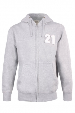 Brandon 21 Applique Patch Zipped Hoodie