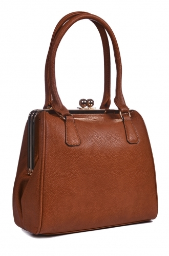 FFOMO Brown Doblong Framed Bag