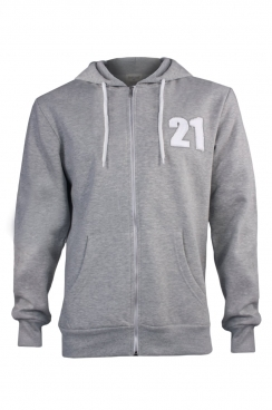 Bryan 21 Applique Patch Metal Zipped Hoodie