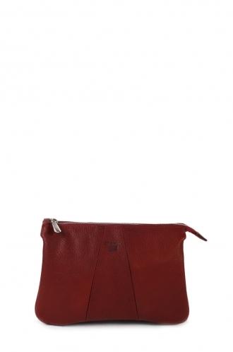 FFOMO Burgundy Crossbody Real Goat leather Bag