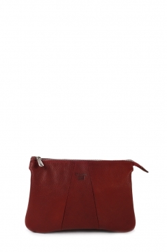 Burgundy Crossbody Real Goat leather Bag