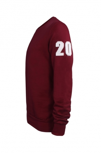 FFOMO Burt 20 Applique Patch Burgundy Sweatshirt