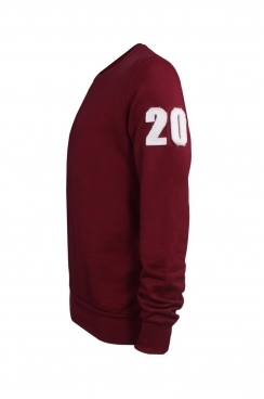 Burt 20 Applique Patch Burgundy Sweatshirt