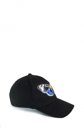 FFOMO Butterfly Embroidered Unisex Black Cap