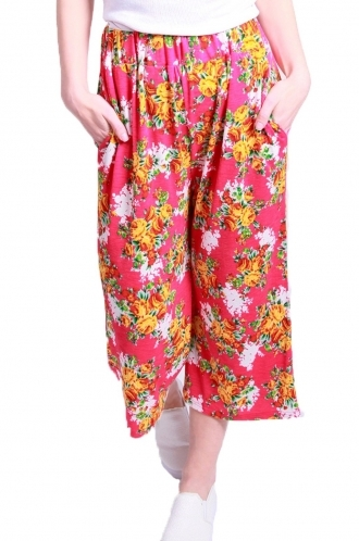 FFOMO Carly floral printed 3/4 trousers