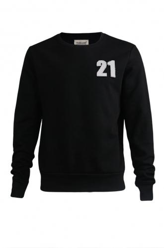FFOMO Casper 21 Applique Black Patch Sweatshirt