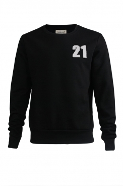 Casper 21 Applique Black Patch Sweatshirt