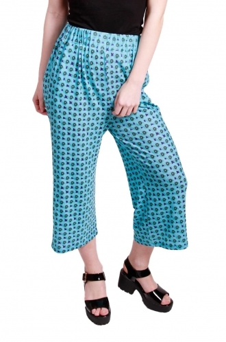 FFOMO Cassie poppy printed 3/4 length trousers.
