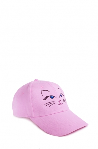 FFOMO Cat Embroidered Pink Cap