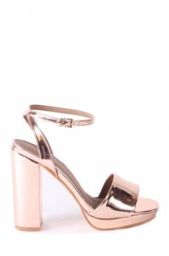 Cathy Metallic Rose Gold Heels