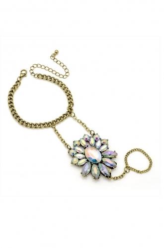FFOMO chain Bracelet and ring hand gem.