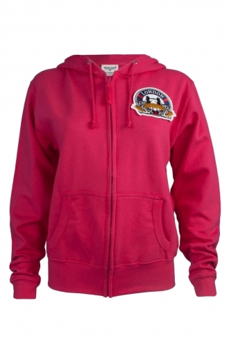 FFOMO Charlotte London Embroidered Patch Fuchsia Hoodie