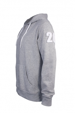 Chris 20 Applique Arm Patch Metal Zipped Hoodie