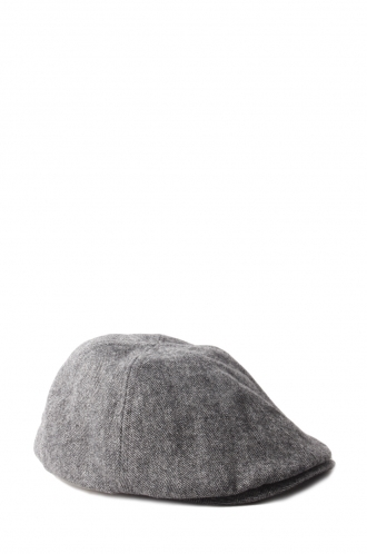 FFOMO Connor Grey Herringbone Cotton flat cap