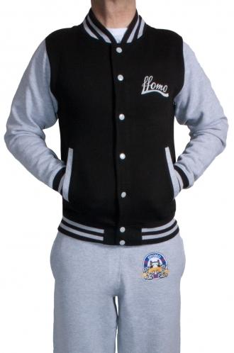 FFOMO Contrast Baseball Men's Black Jacket