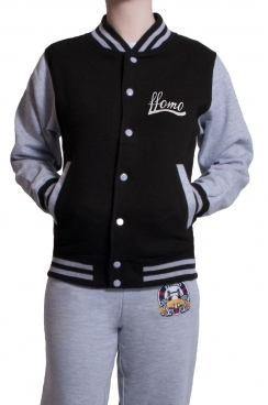 Contrast Baseball Women's Black Jacket